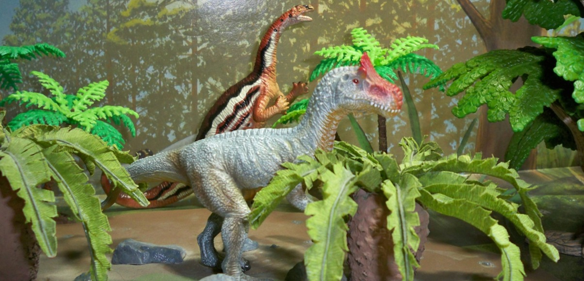 CollectA Cryolophosaurus and Carnegie Plateosaurus.