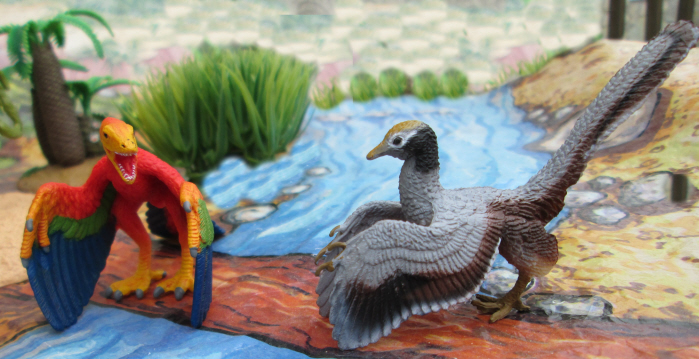 Schleich and PNSO Archaeopteryx