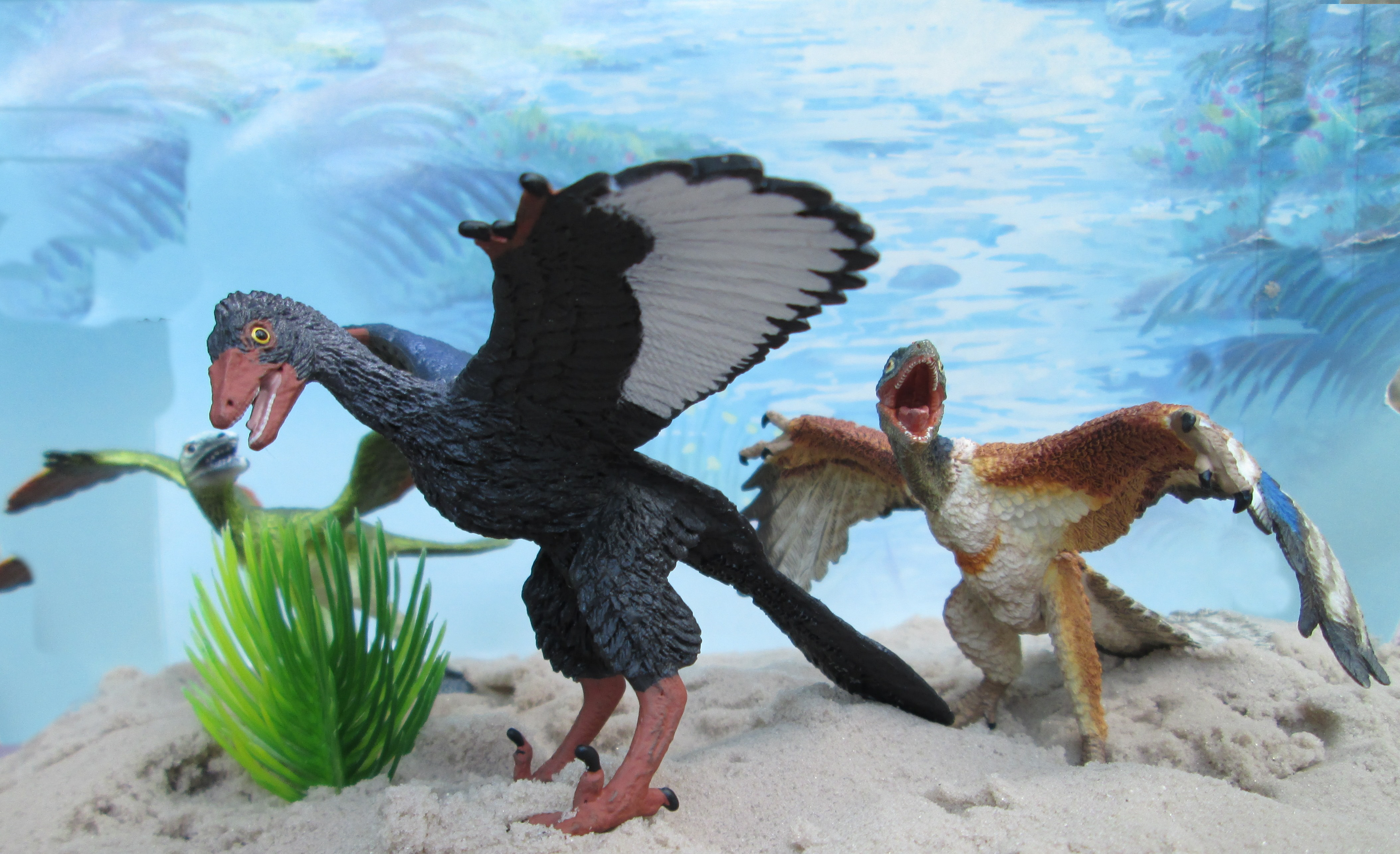 Archaeopteryx Wild Safari, Bullyland and Papo